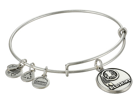 Alex and Ani - Washington Redskins Logo Charm Bangle (Rafaelian Silver Finish) Bracelet