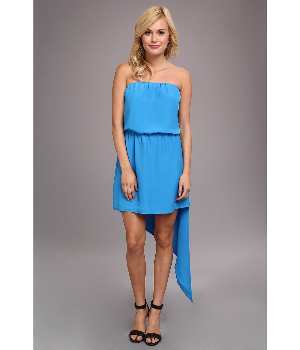 BCBGeneration - Asymmetrical Hem Strapless Dress (Atlantic) Women's Dress