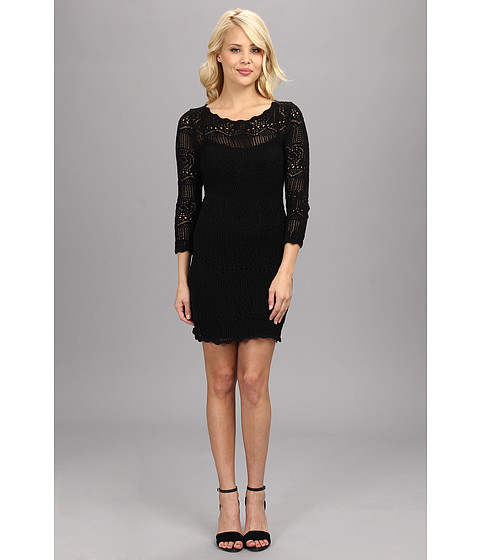 BCBGeneration - Crochet Dress (Black) Women's Dress