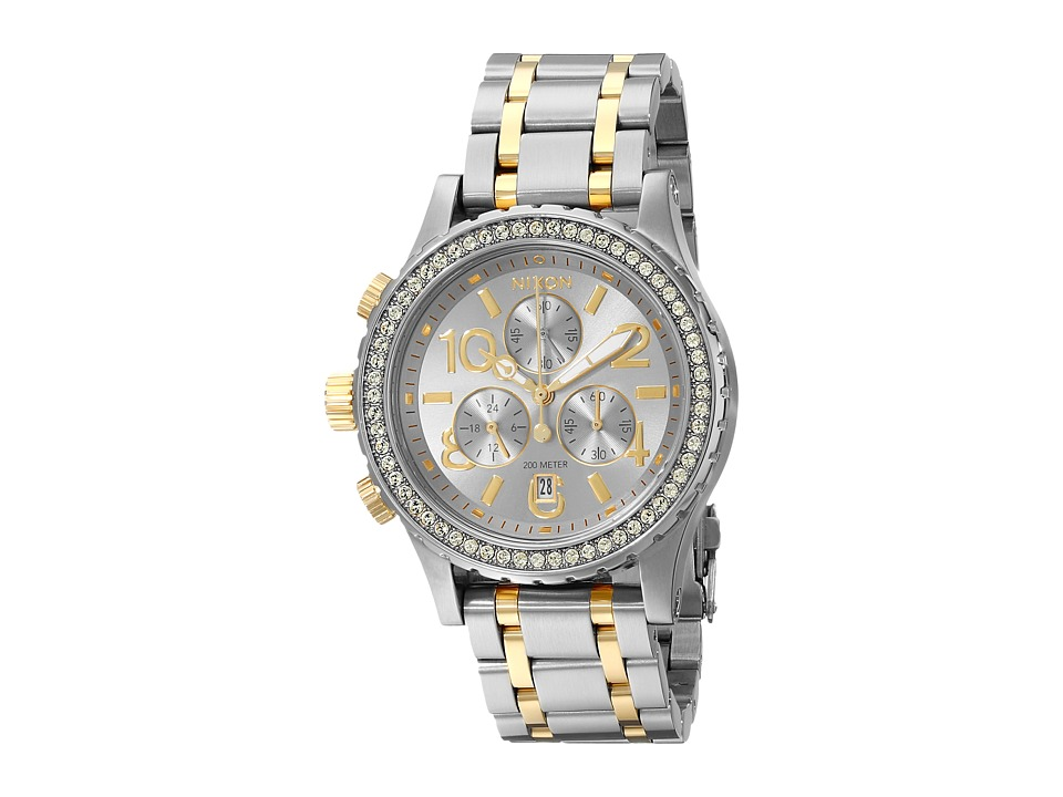Nixon - 38-20 Chrono (Silver/Gold) Watches