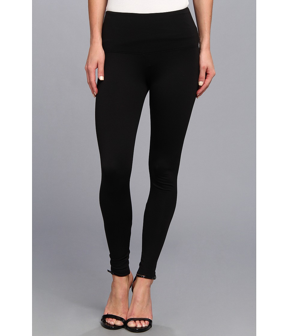 Lysse - Twist Zip Ponte Legging 1138L (Black) Women's Casual Pants