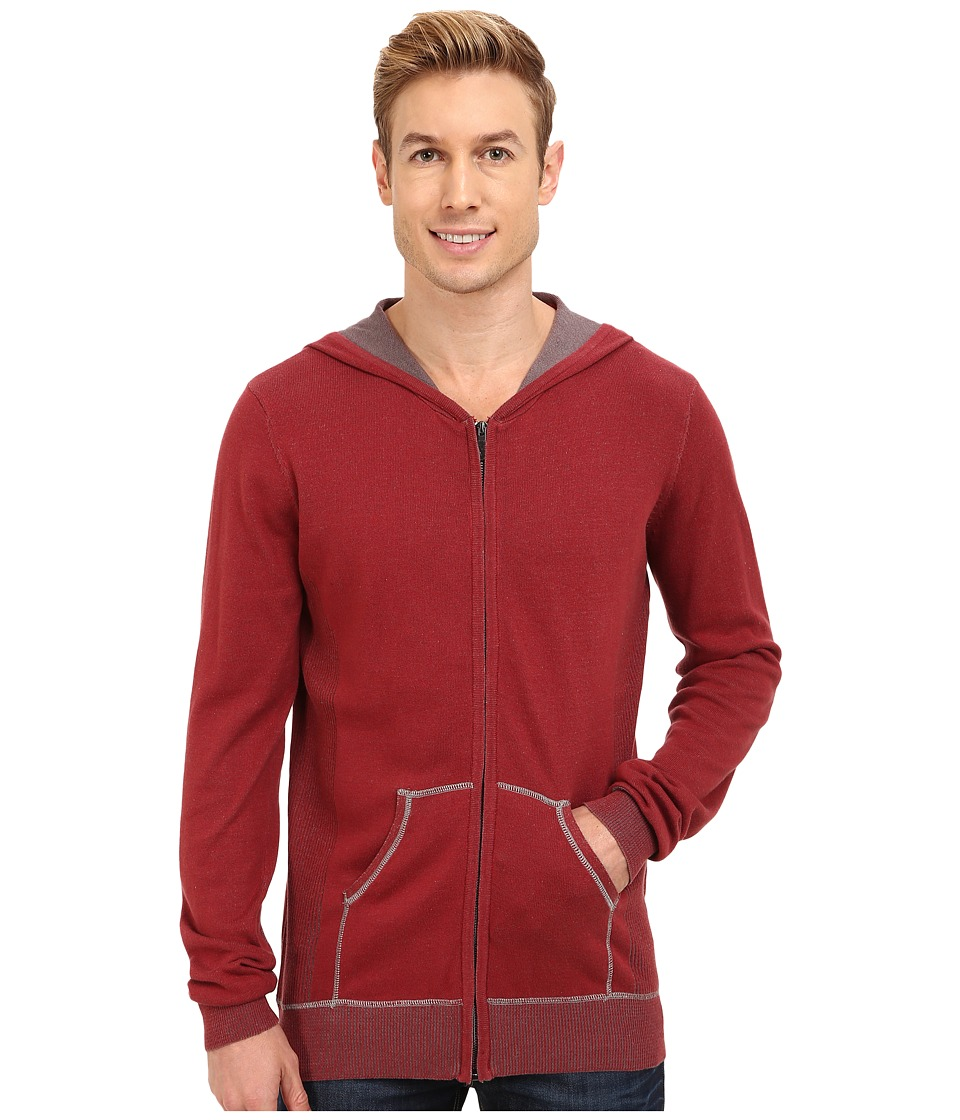 Ecoths - Sawyer Hoodie (Brick Red) Men