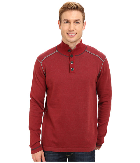 Ecoths - Maddox Sweater (Brick Red) Men