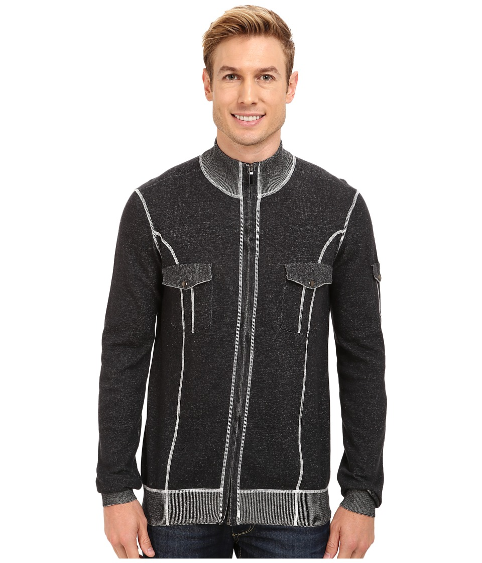 Ecoths - Brady Full Zip Sweater (Black) Men