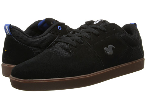DVS Shoe Company - Nica (Black/Gum Suede) Men's Skate Shoes