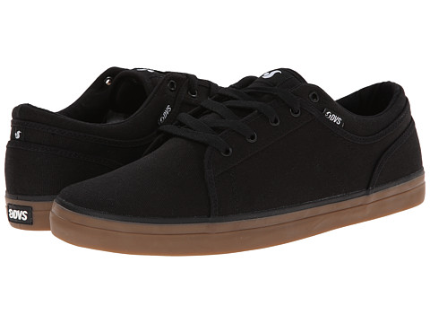 DVS Shoe Company - Aversa (Black/Gum Canvas) Men's Skate Shoes