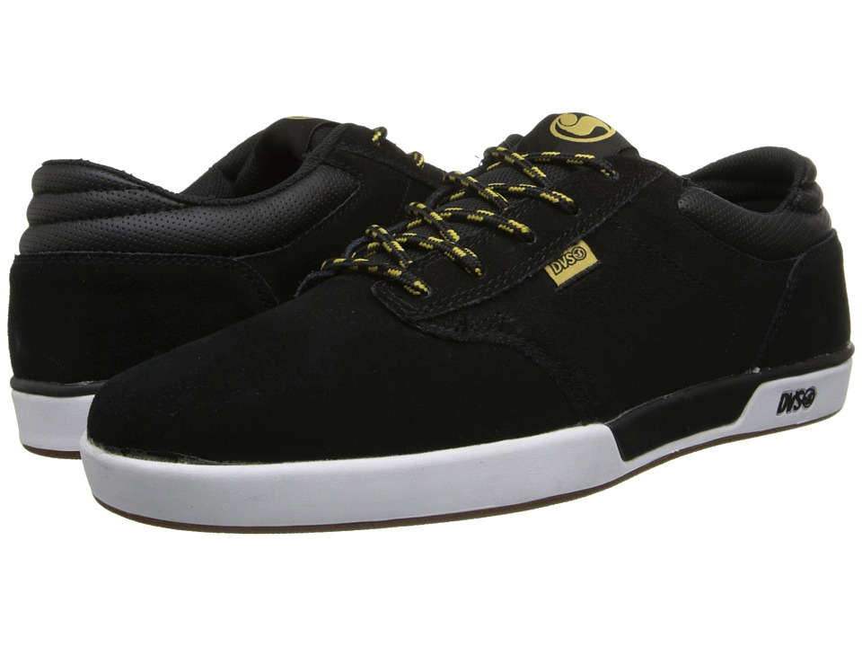 DVS Shoe Company - Vapor (Black/Gold Suede) Men's Skate Shoes