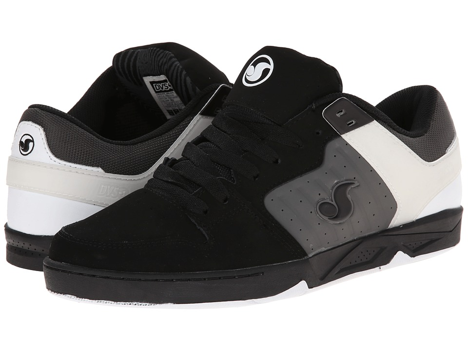 DVS Shoe Company - Argon (Black/Grey/White Nubuck) Men's Skate Shoes