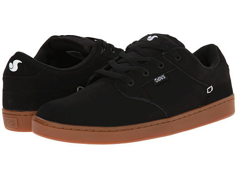 DVS Shoe Company - Quentin (Black/Gum Nubuck) Men's Skate Shoes