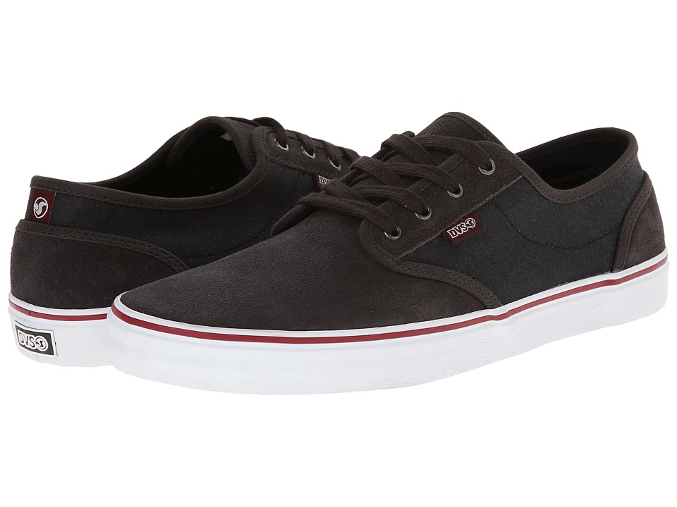 DVS Shoe Company - Rico CT (Grey/Black/Red Suede) Men's Skate Shoes