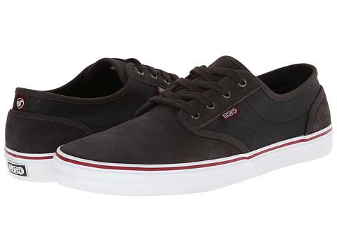 DVS Shoe Company - Rico CT (Grey/Black/Red Suede) Men