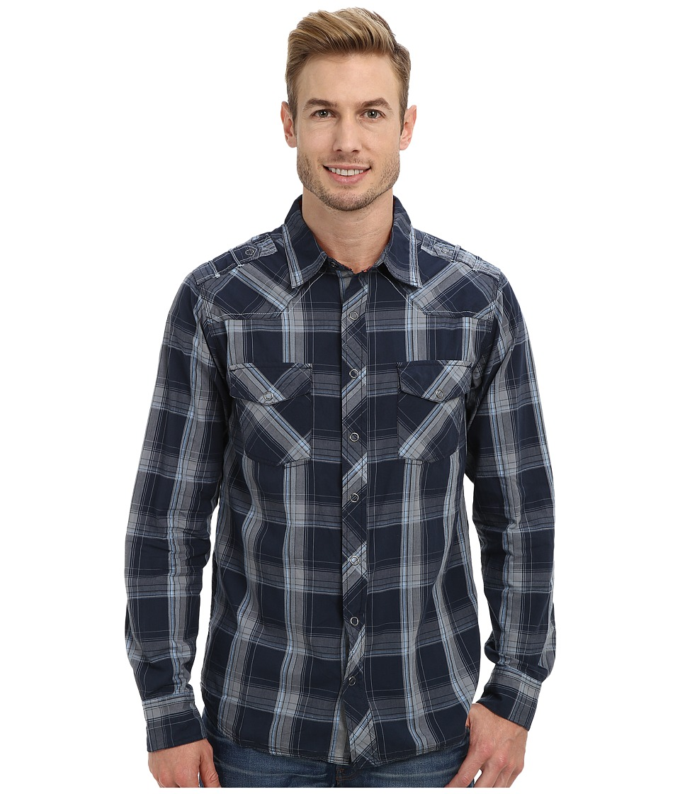 Ecoths - Kingston L/S Button Up (Mood Indigo) Men's Long Sleeve Button Up