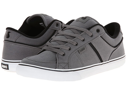 DVS Shoe Company - Barton (Grey Canvas) Men's Skate Shoes