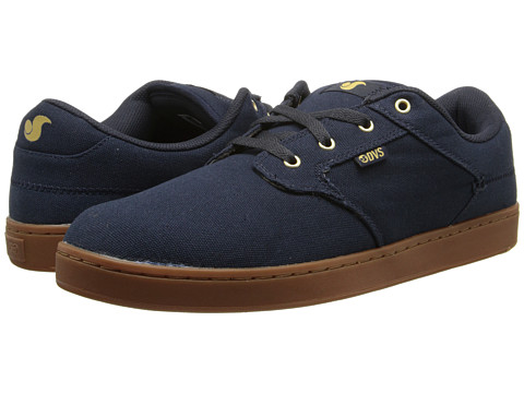 DVS Shoe Company - Quentin (Navy/Gum Canvas) Men's Skate Shoes