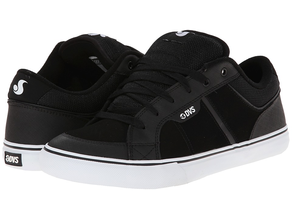 DVS Shoe Company - Barton (Black Nubuck) Men's Skate Shoes