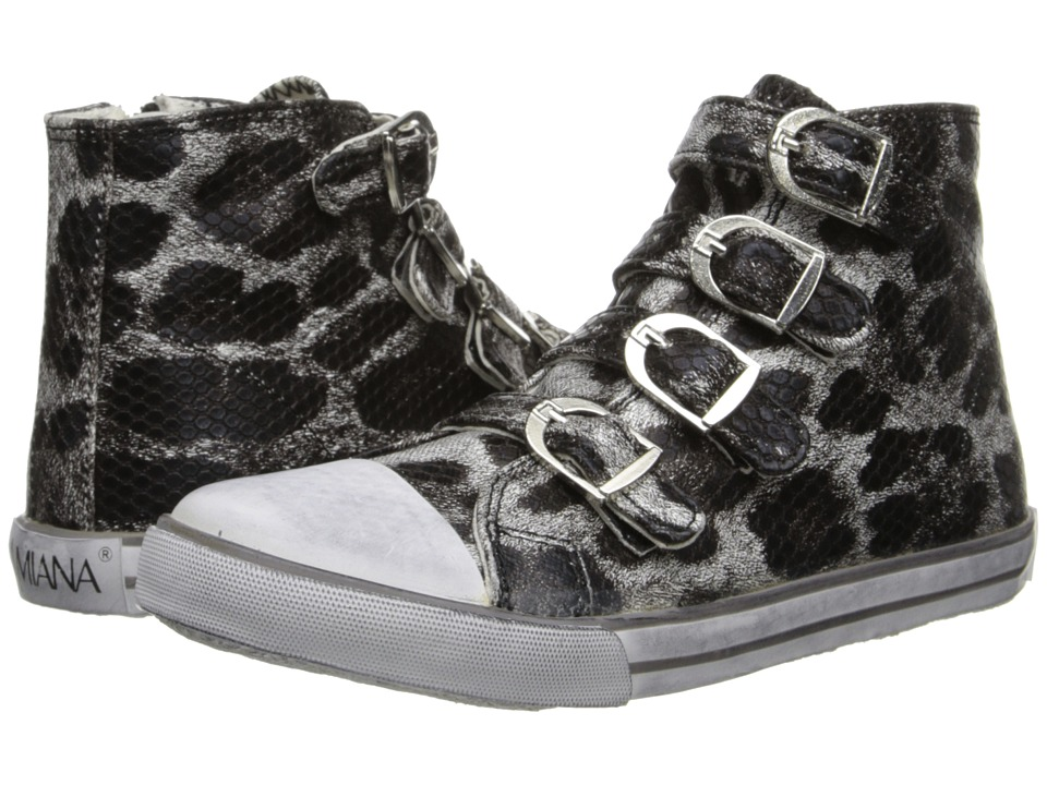 Amiana 15-A5172 (Toddler/Little Kid/Big Kid/Adult) (Pewter Leopard Metallic) Girls Shoes