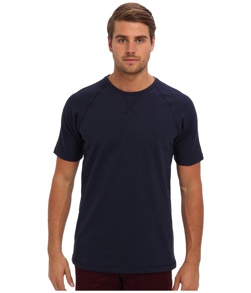 Publish - Orion Reversed French Terry Tee (Navy) Men's T Shirt