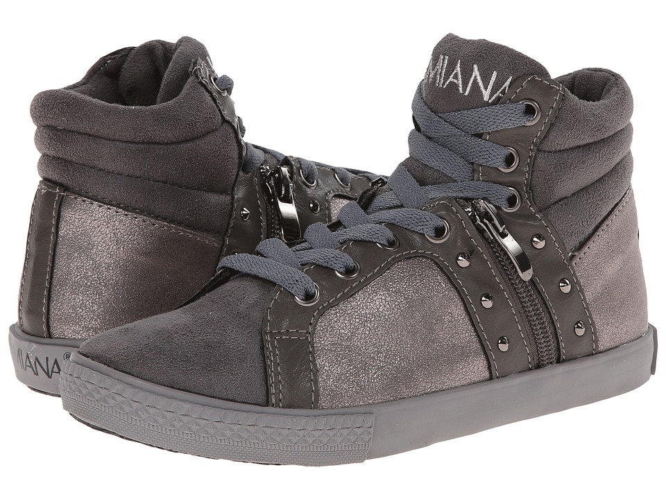 Amiana - 15-A5288 (Toddler/Little Kid/Big Kid/Adult) (Grey Suede Fabric) Girl