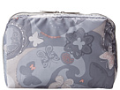 LeSportsac Extra Large Rectangular and Square Cosmetic Combo (All-A-Flutter) Cosmetic Case