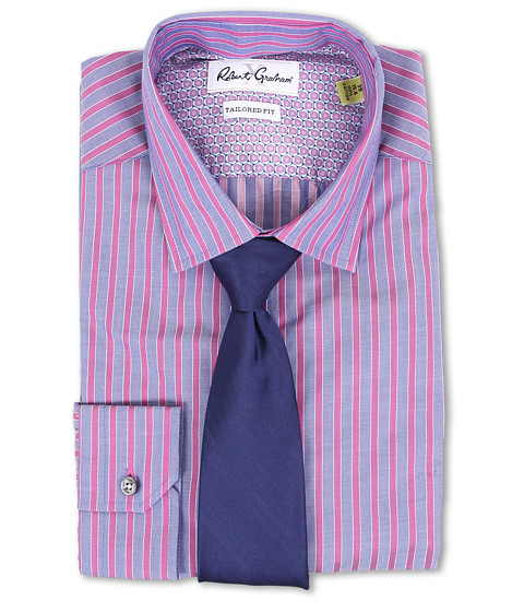 Robert Graham - X Tailored Fit Prato Dress Shirt (Berry) Men