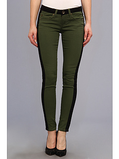 SALE! $19.99 - Save $26 on dollhouse Tuxedo Stip Colored Skinny in Olive (Olive) Apparel - 56.54% OFF $46.00
