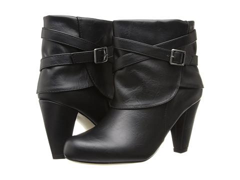 Madden Girl - Plaaza - Wide Width (Black Paris) Women's Zip Boots