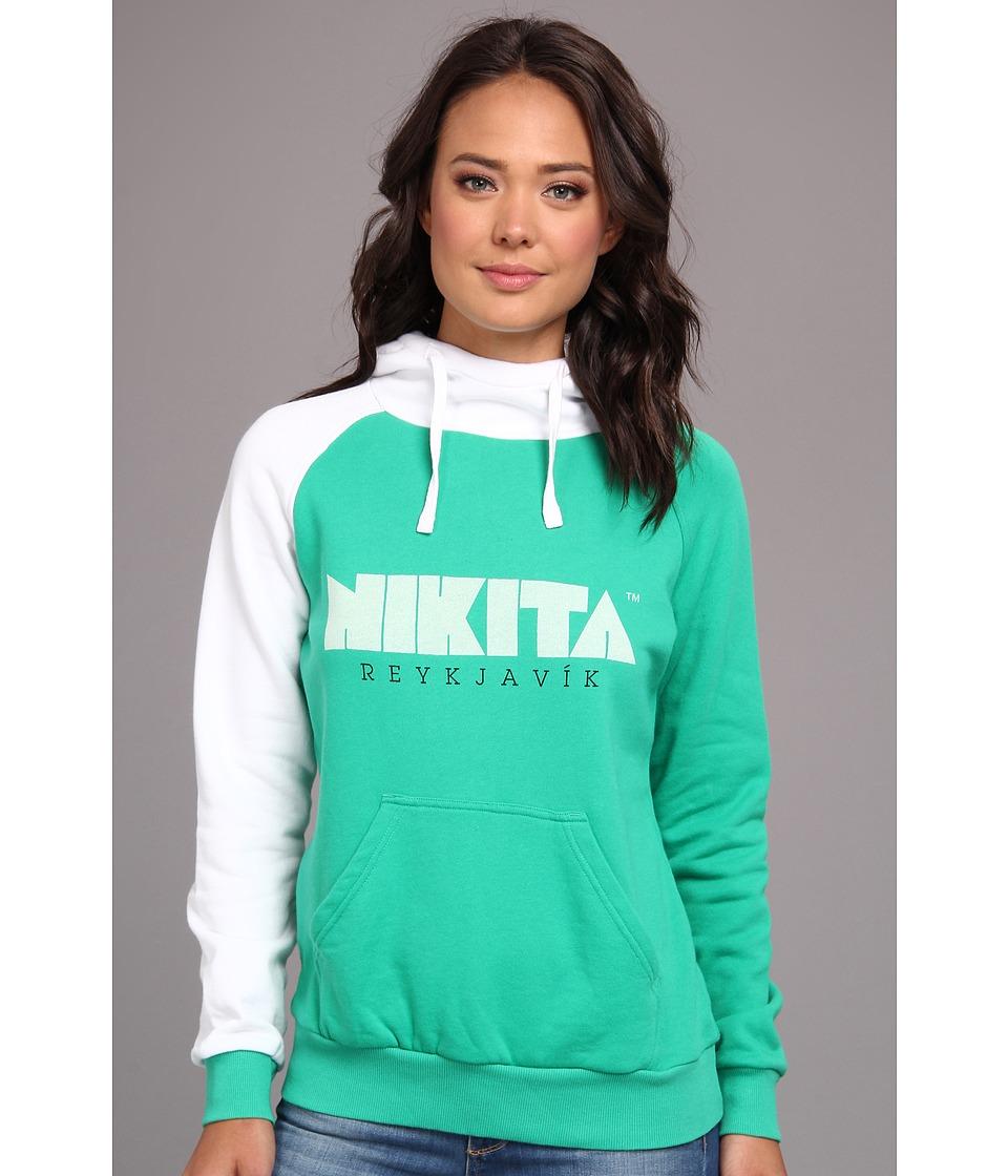 Nikita - Reykjavik Hoodie (Deep Mint/White) Women's Sweatshirt