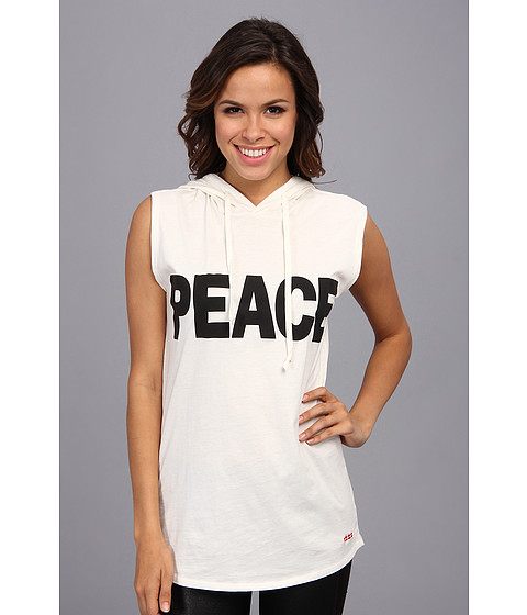 Peace Love World - Peace Metro Hoodie (Antique White) Women