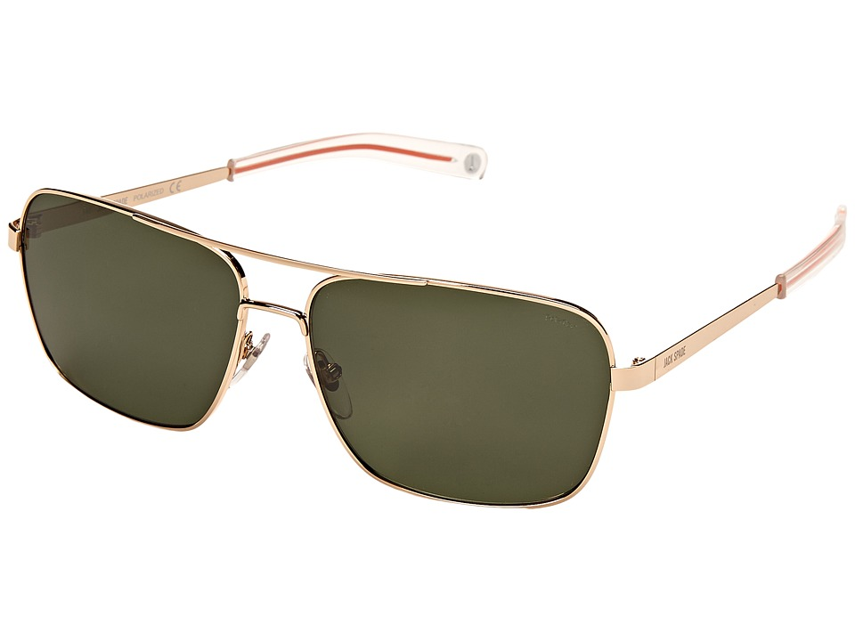 Jack Spade - Wright/P/S (Gold/Green Polarized) Fashion Sunglasses