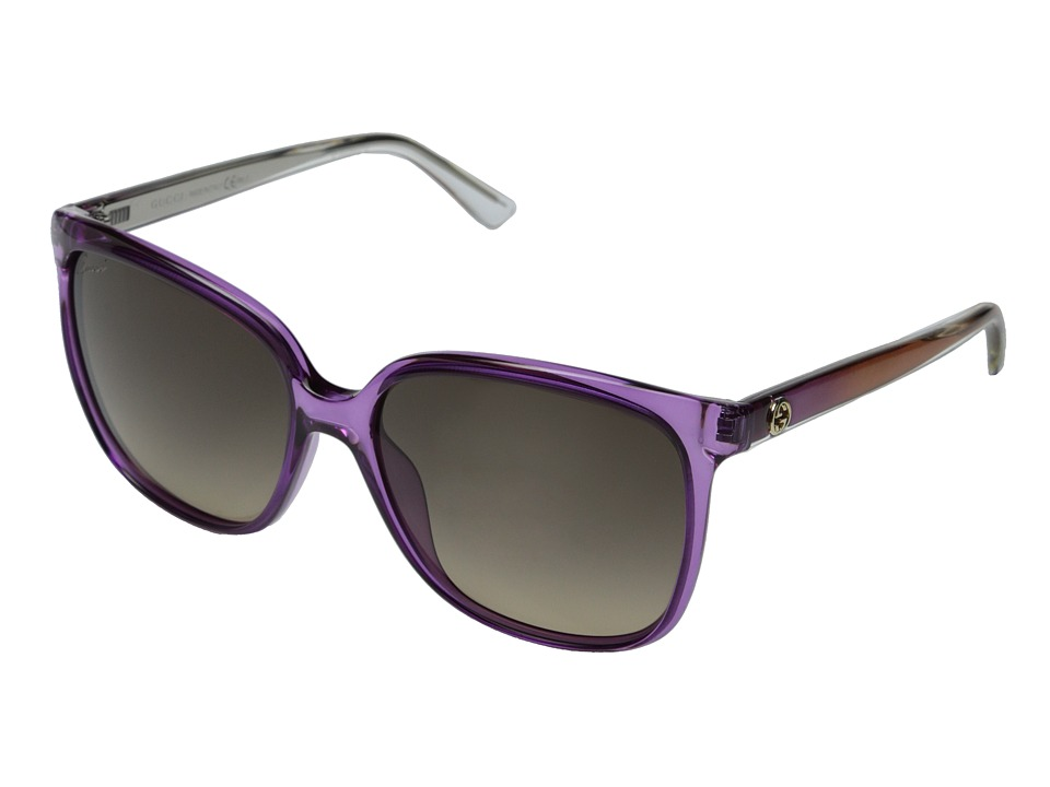 Gucci - GG 3696/S (Violet/Brown Gradient) Fashion Sunglasses