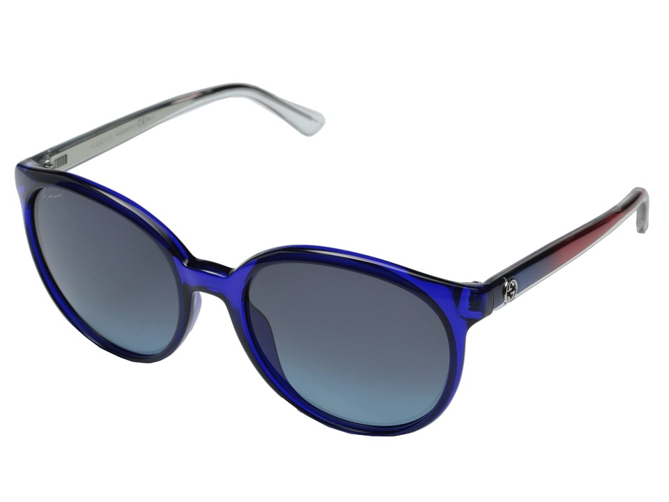 Gucci - GG 3697/S (Transparent Blue/Gray Gradient Turquoise) Fashion Sunglasses
