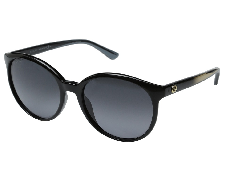 Gucci - GG 3697/S (Shiny Black/Gray Gradient) Fashion Sunglasses