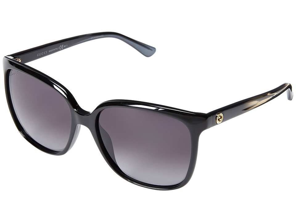 Gucci - GG 3696/S (Shiny Black/Gray Gradient) Fashion Sunglasses