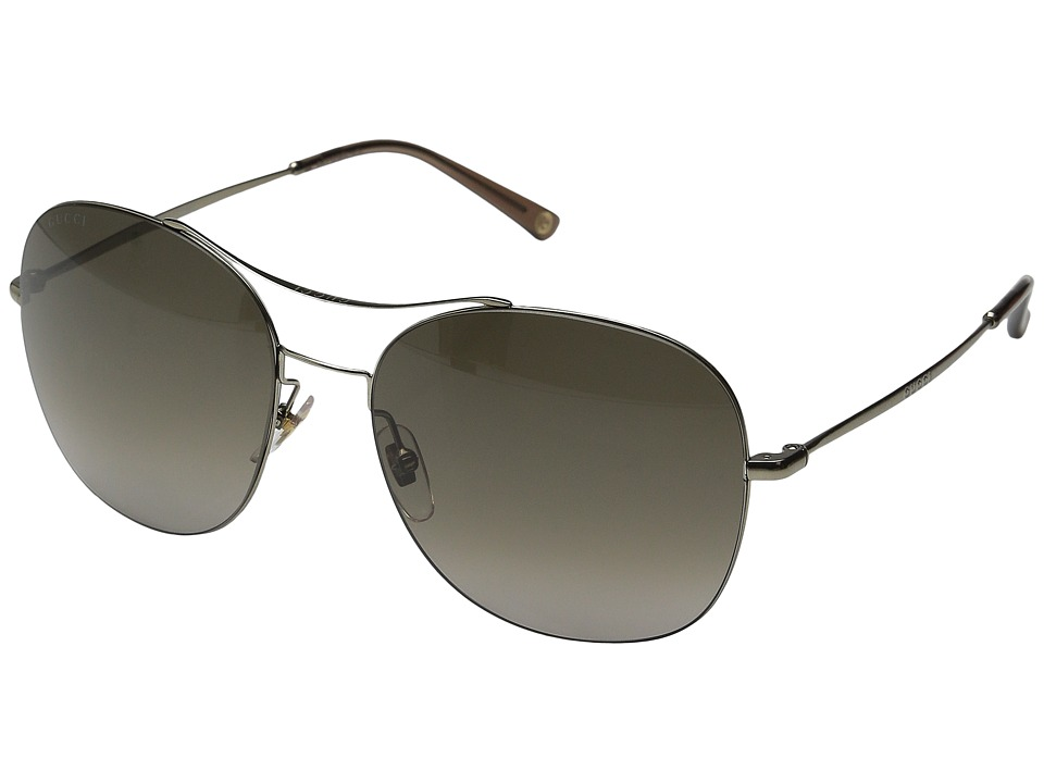 Gucci - GG 4253/S (Shiny Olive/Brown Gradient) Fashion Sunglasses