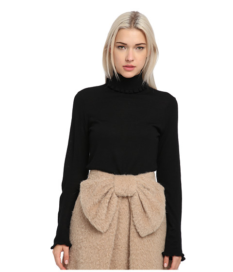 Kate Spade New York - Bekki Turtleneck (Black) Women's Long Sleeve Pullover