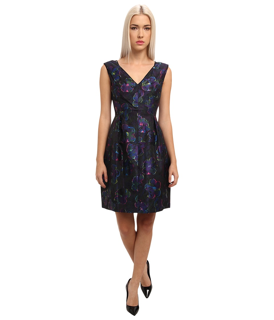 Kate Spade New York - Floral Clip Dot Cupcake Dress (Multi) Women's Dress
