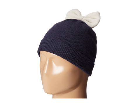 Kate Spade New York - Colorblock Beanie (Rich Navy/Cream) Beanies