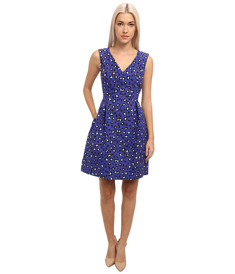 Kate Spade New York - Cyber Cheetah Dawson Dress (Emperor Blue) Women