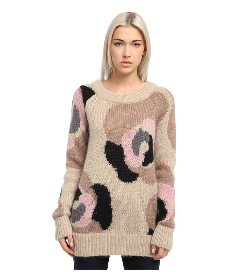 Kate Spade New York - Deco Rose Mohair Sweater (Deco Beige Multi) Women