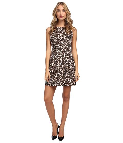 Kate Spade New York - Autumn Leopard Domino Dress (Classic Beige) Women