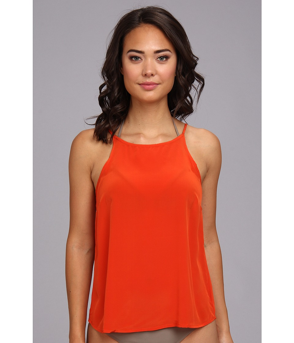 Vix - Solid Orange Beta Shirt Cover-Up (Orange) Women