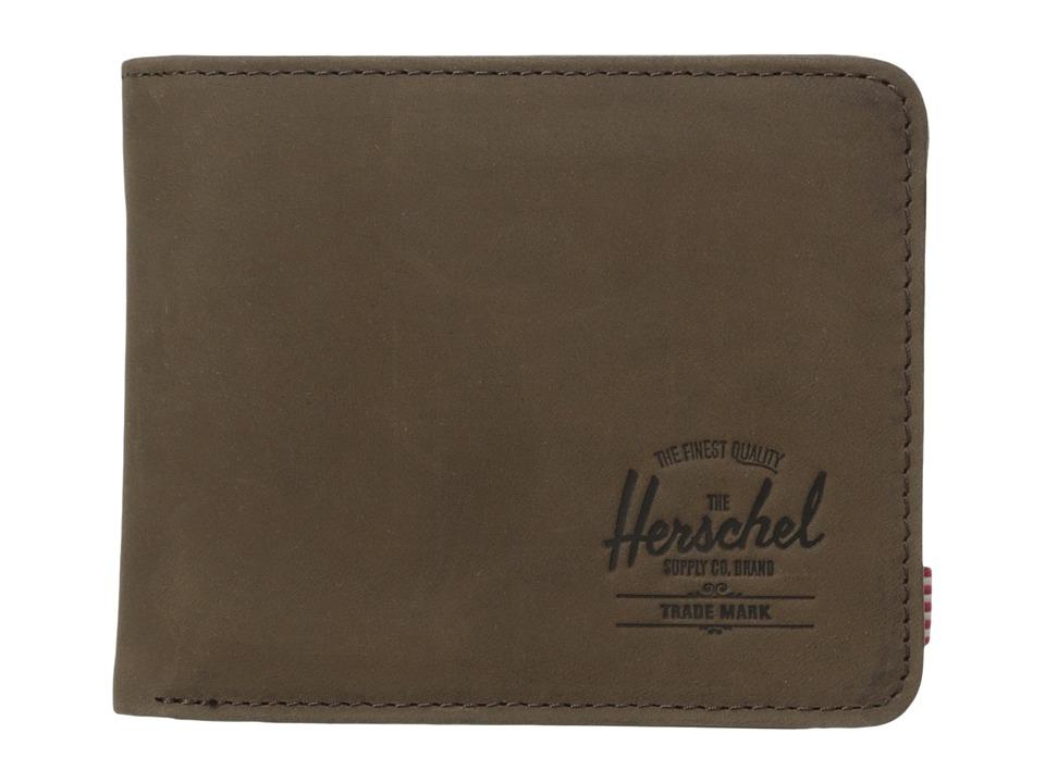 Herschel Supply Co. - Hank Coin (Brown Nubuck) Wallet Handbags