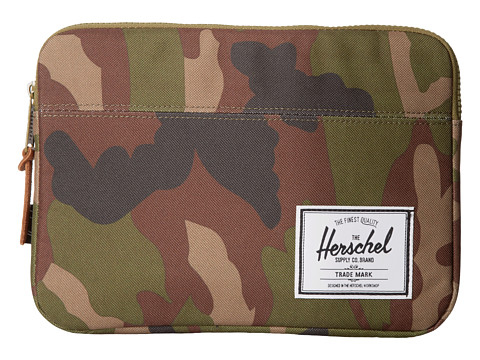 Herschel Supply Co. - Anchor Sleeve Ipad Air (Woodland Camo) Computer Bags