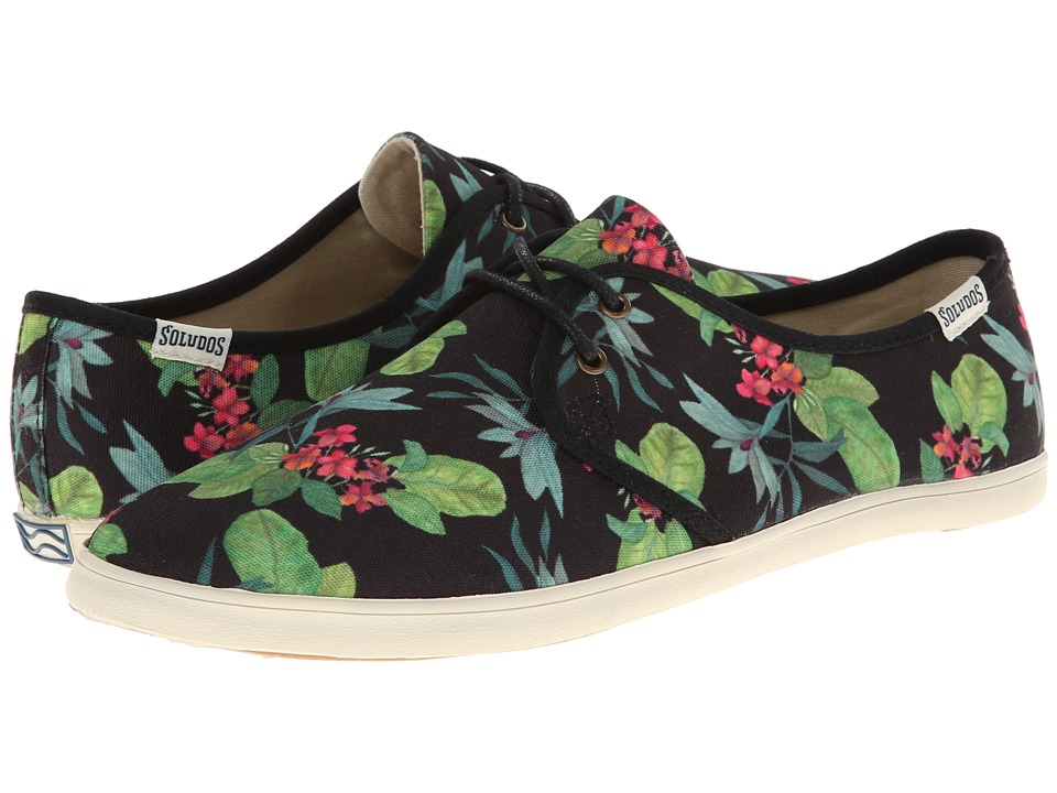Soludos - Sand Shoe Lace Up Prints (Floral Black) Women