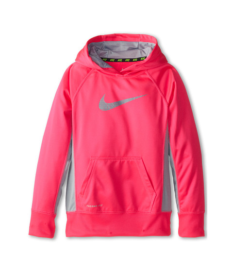 Nike Kids - KO 2.0 GFX Swoosh OTH Hoodie (Little Kids/Big Kids) (Hyper Pink/Light Magnet Grey/Light Magnet Grey) Girl's Long Sleeve Pullover