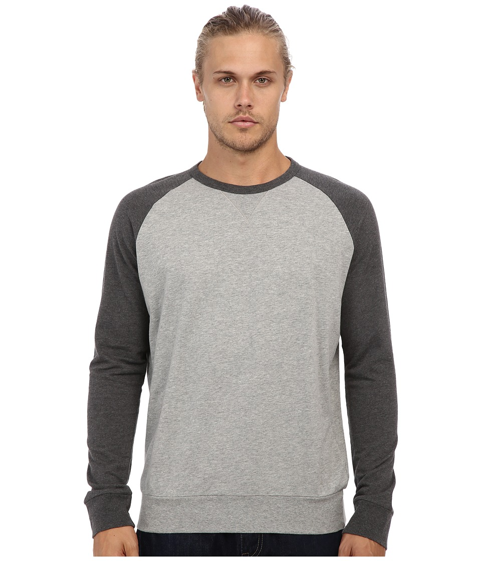 French Connection - Lightweight Sweat (Grey Melange/Charcoal Melange) Men's Long Sleeve Pullover