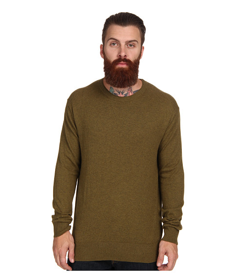 French Connection - Portrait Plain Crew Neck Sweater (Twine) Men's Long Sleeve Pullover