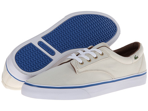 Lacoste - Barbados CS (Natural/Blue) Women's Lace up casual Shoes