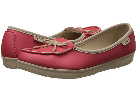 Crocs - Wrap Color Light Ballet Flat (Pepper/Tumbleweed) Women
