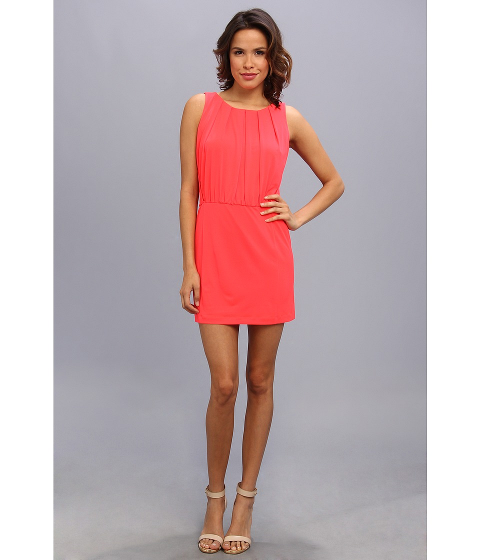 Jessica Simpson - Sleeveless Blouson Dress w/ Fitted Skirt (Pink) Women's Dress